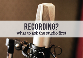 Recording at a Studio?
