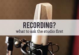 Recording at a Studio?