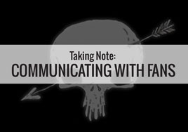 Taking Note: Communicating with Fans