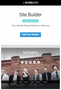 reverbnation website builder