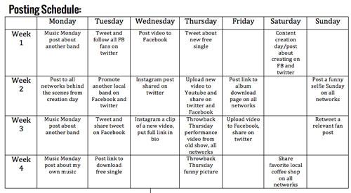 Social Media For Musicians Source Music Distribution - Social media action plan template