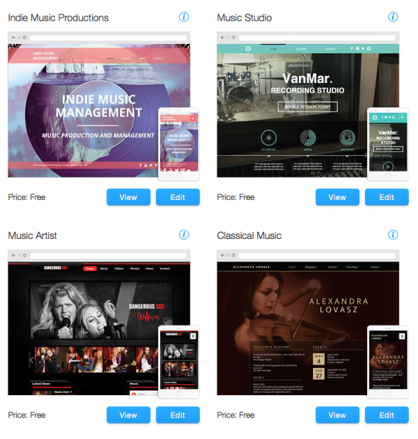 Wix Music Templates
